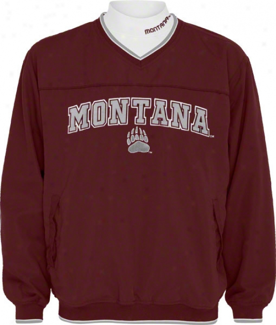 Montana Grizzlies Windshirt/long Sleeve Mockneck Combo Pack