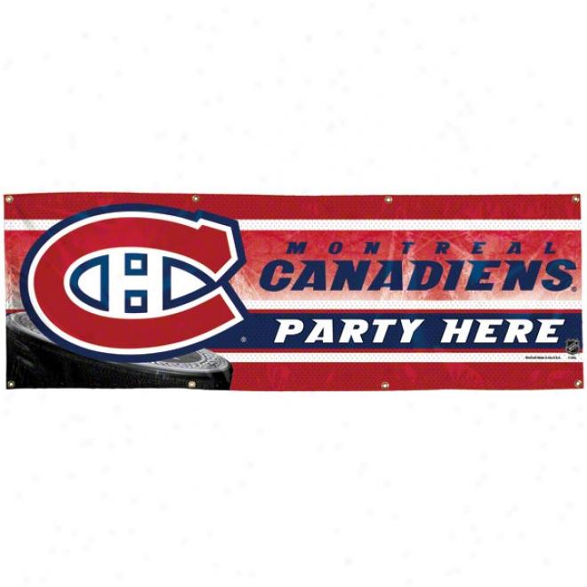 Montreal Canadiens 2x6 Vinyl Banner