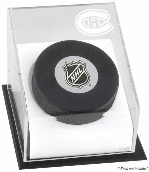 Montreal Canadiens Hockey Puck Logo Display Case