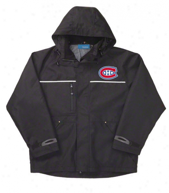Montreal Canadiens Jacket: Black Reebok Yukon Jacket