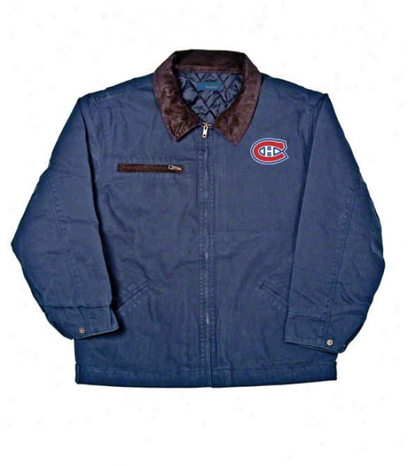 Montreal Canadiens Jacket: Blue Reebok Tradesman Jacket