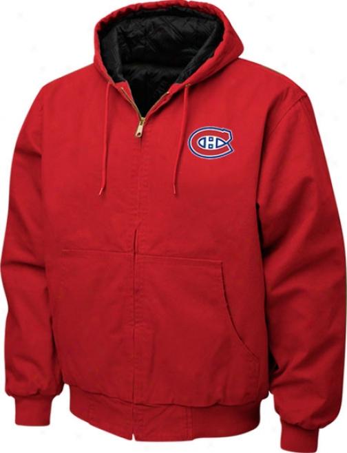 Montreal Canadiens Jacket: Red Reebok Cumberland Jerkin