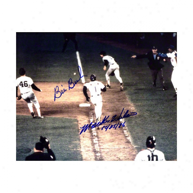 Mookie Wilson/bill Buckner Boston Red Sox 16x20 Autographed Photograph