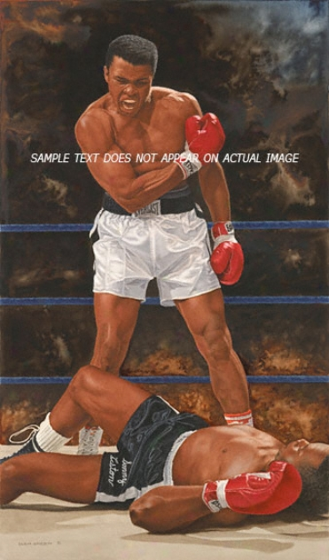 Muhammad Ali And Sonny Liston - &quotthe Knock Out&quot - Oversized - Unframed Giclee