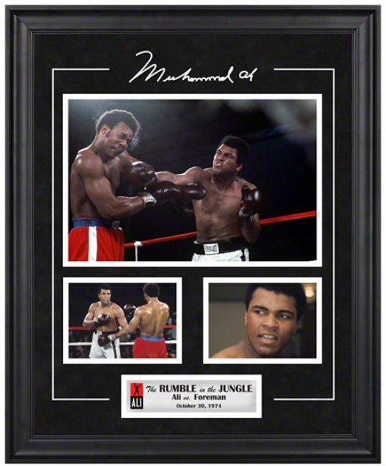 Muhammad Ali Frwmed 3 Photograph Collage  Details: Rumble In The Jungle