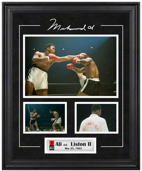 Muhammad Ali Framed 3 Photograph Collage  Details: Vs. Sonny Liston #2