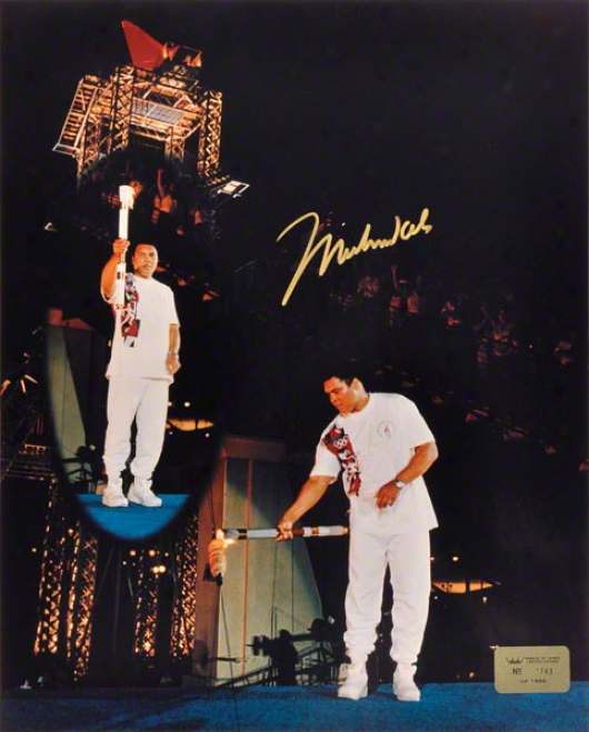 Muhammad Ali -olympic Torch- 16x20 Autographed Photograph