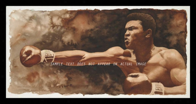 Muhammad Ali - &quotthe Jab&quot - Large - Framed Giclee