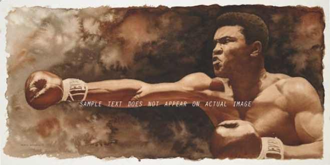 Muhammad Ali - &quotthe Jab&quot - Large - Unframed Giclee