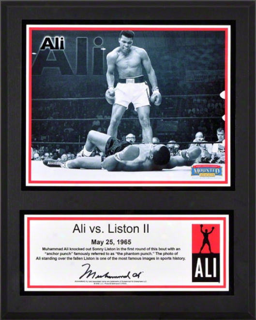 Muhammad Ali Sublimated 12x15 Plaque  Details: Ali Vs. Liston Ii