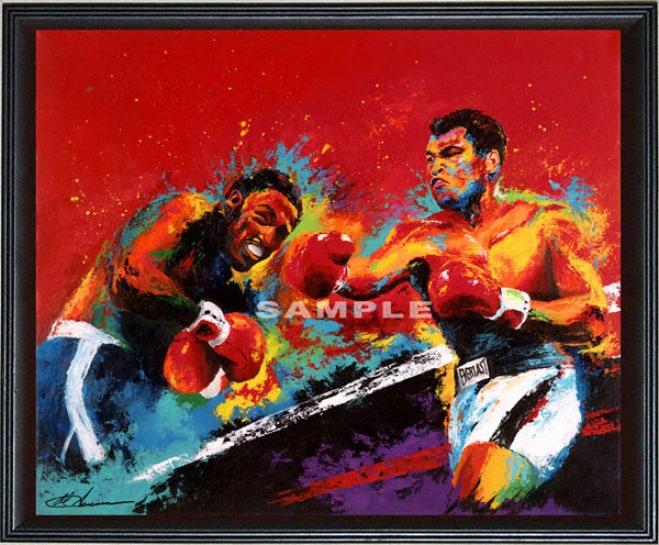 Muhammad Ali/joe Frazier - &quotthriller In Manila&quot - Wall - Framed Giclee