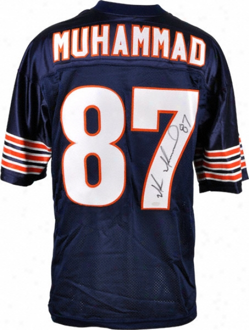 Muhsin Muhammad Autographed Jersey  Details: Dark Blue, Custom