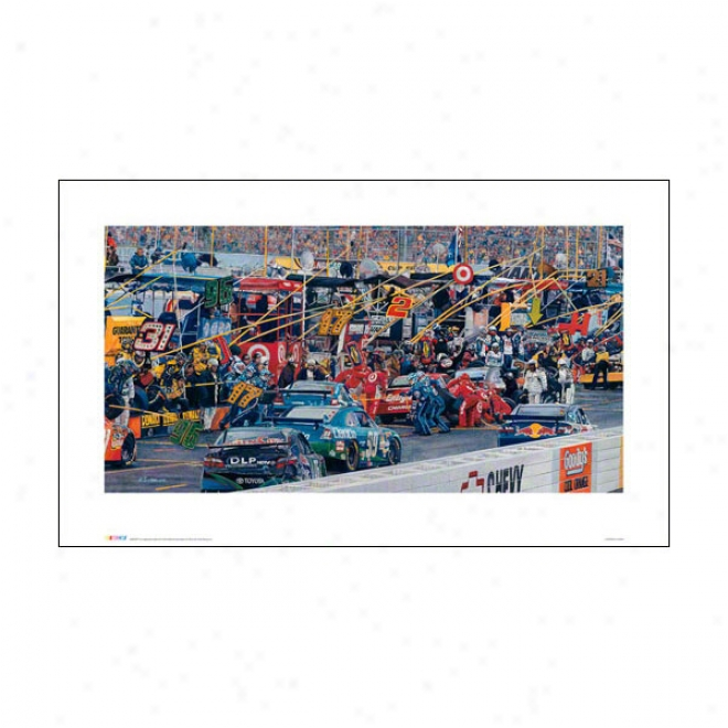 Nascar Print: In The Pits Art