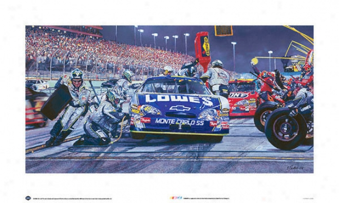 Nascar - &quotlowes Car&quot - Unframed Art Print