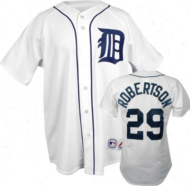 Nate Robertwon White Majestic Mlb Home Replica Detroit Tigers Jersey