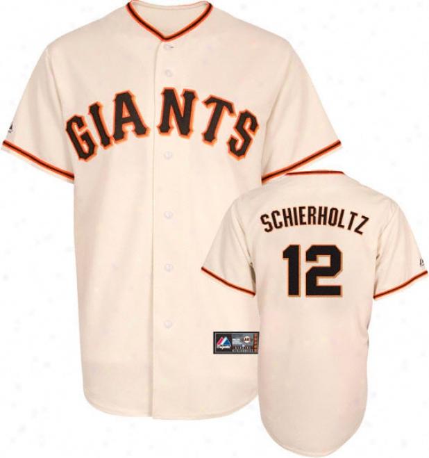 Nate Schierholtz Jersey: Adult Majestic Home Ivory Replica #12 San Francisco Giants Jersey