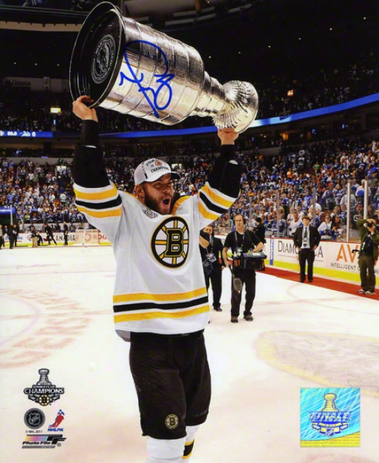 Nathan Horton Autographed 8x10 Photograph  Details: Boston Bruins, 2011 Nhl Stanley Cup Champions