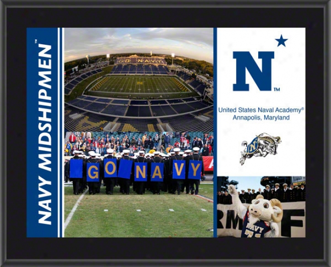 Navy Midshipmen Plaque  Details: Sublimated, 10x13, Ncaa Plaque