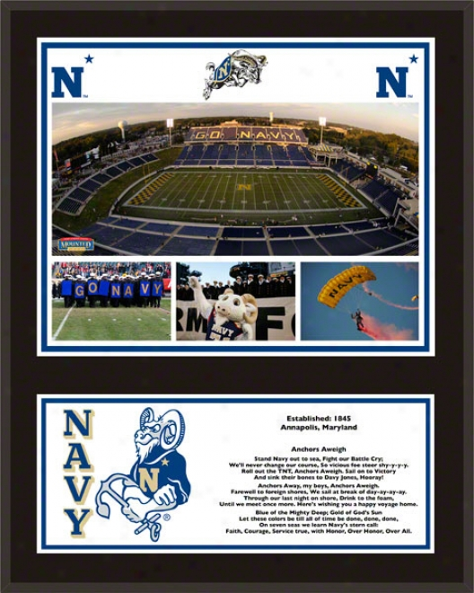 Navy Midshipmen Sublimated 12x15 Plaque