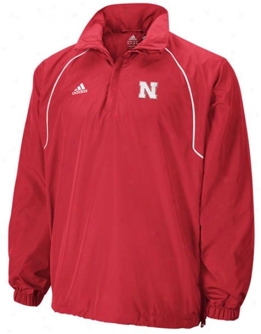 Nebraska Cornhuskers Adidas Climalite Half-zip Windshirt