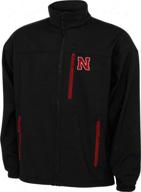 Nebraska Cotnhuskers Black Columbia Permit 'em 6 Softshell Jacket