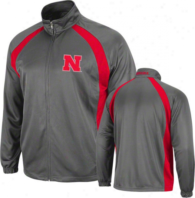 Nebraska Cornhuskers Charcoal Rival Full-zip Jacket