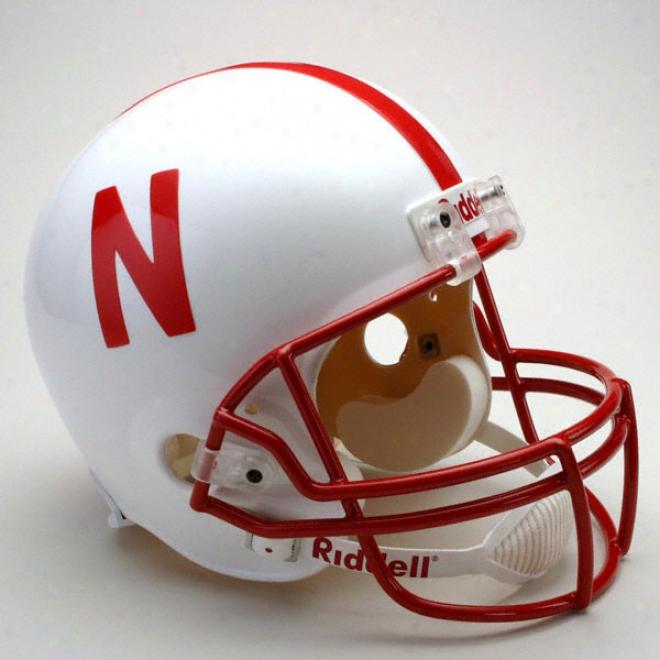 Nebraska Cornhuskers Deluxe Replica Riddell Helmet