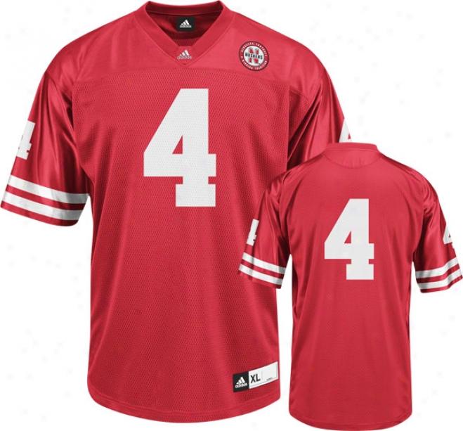 Nebraska Cornhuskers Football Jersey: Adidas #4 Red Replica Football Jersey