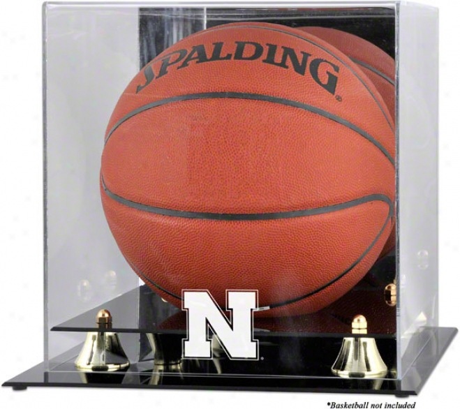 Nebraaka Cornhuskers Goldeen Clasaic Logo Basketball Display Case