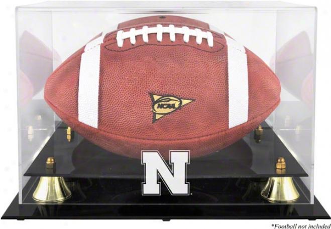 Nebraska Cornhuskers Golden Classic Logo Football Display Case
