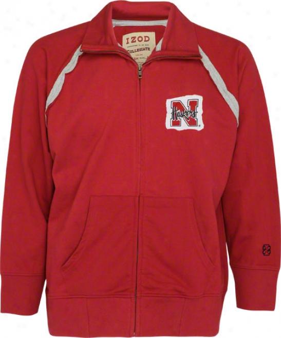 Nebraska Cornhuskers Nebraska Izod Raglan Track Jacket