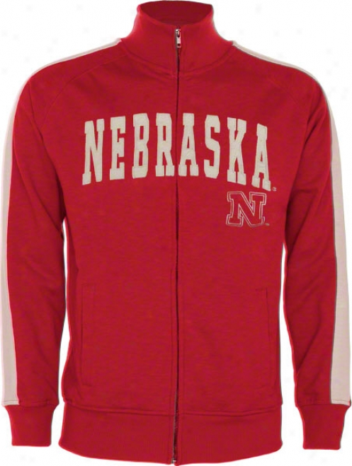 Nebraska Cornhuskers Red Pinnacle Slub French Terry Track Jacket
