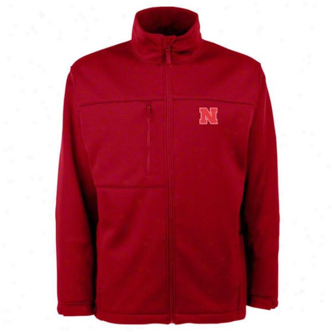 Nebraska Cornhuskers Red Traverse Bonded Soft Shell Jacket
