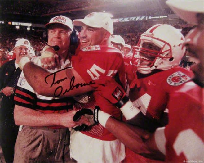 Nebraska Cornhuskers Tom Osbourne Autographed 8x10 Photo
