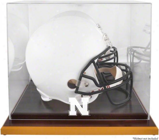 Nebraska Cornhuskers Woobase Logo Helmet Display Case