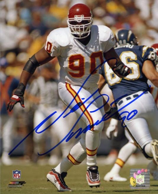 Neil Smith Autographed Photograph  Details: Kansas City Chiefs, 8x10