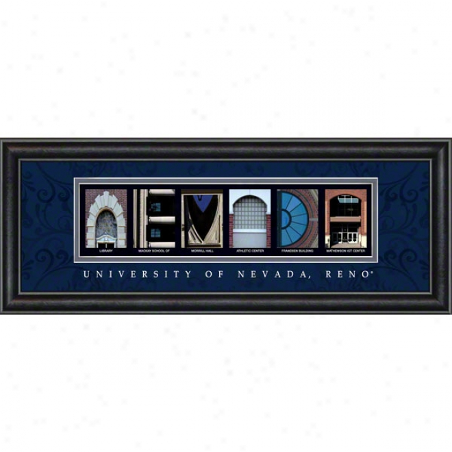 Nevada Wolf Pack Letter Art
