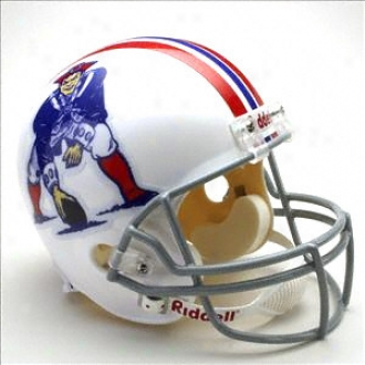 New England Patriots 1965-1981 Deluxe Autograph copy Riddell Throwback Full Size Helm