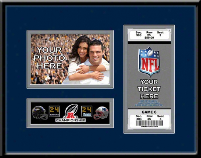 New England Patriots 2011 Afc Championship Game Your 4x6 Photo And Ticket Frame