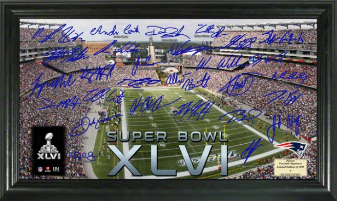 New England Patriots 2011 Afc Conference Champikns Super Bowl Xlvi Signature Gridiron