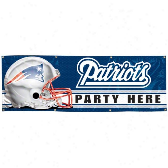 New England Patriots 2x6 Vinyl Banner