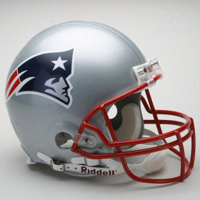 New England Patriots Authentic Pro Line Riddell Full Size Helmet