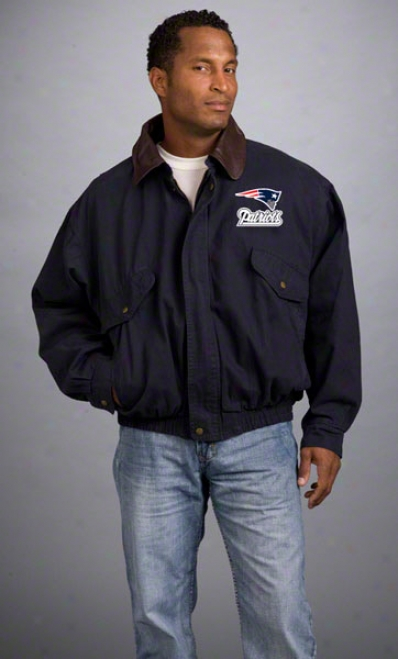 New England Patriots Jacket: Navy Reebok Navigator Jacket