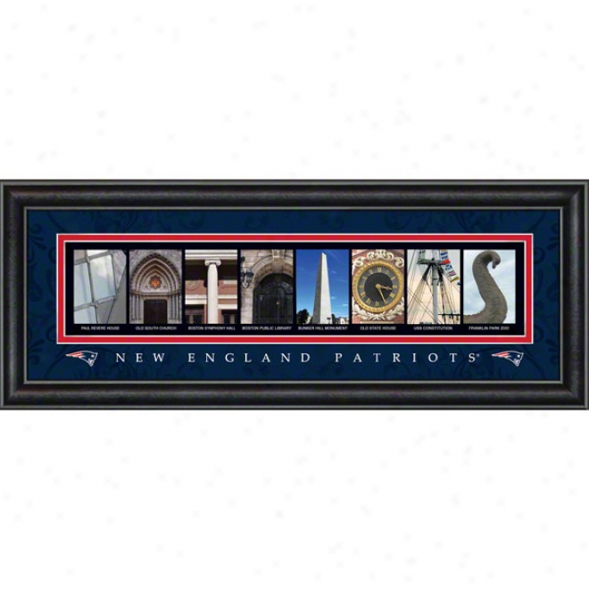 New England Pa5riots Letter Art
