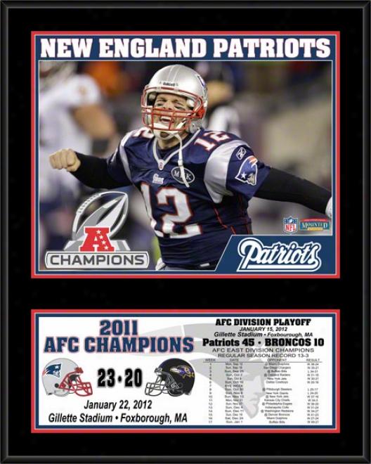 New England Patriots Sublimated 12x15 Plaque  Details: 2011 Afc Champions