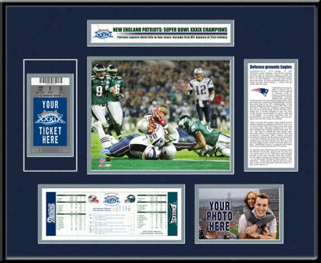 New England Patriots Super Bowl Xxxix Ticket Frame
