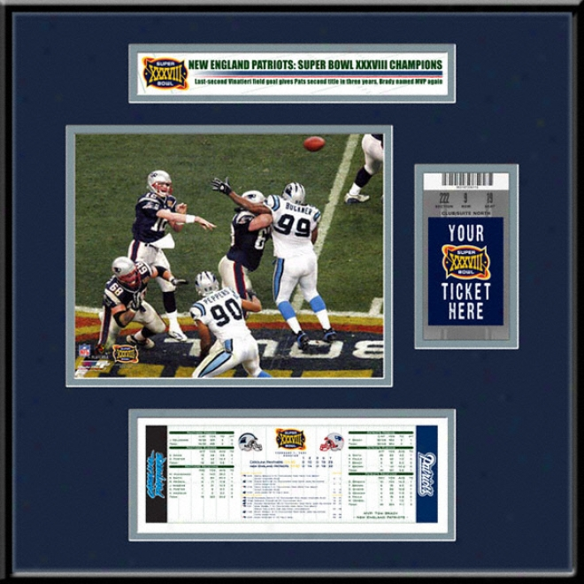 New England PatriotsS uper Bowl Xxxviii Ticket Frame Jr.