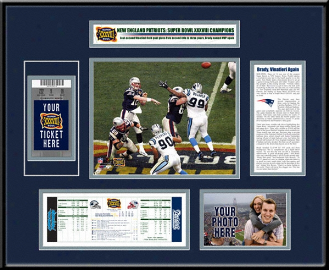 New England Patriots Super Bowl Xxxviii Ticket Invent