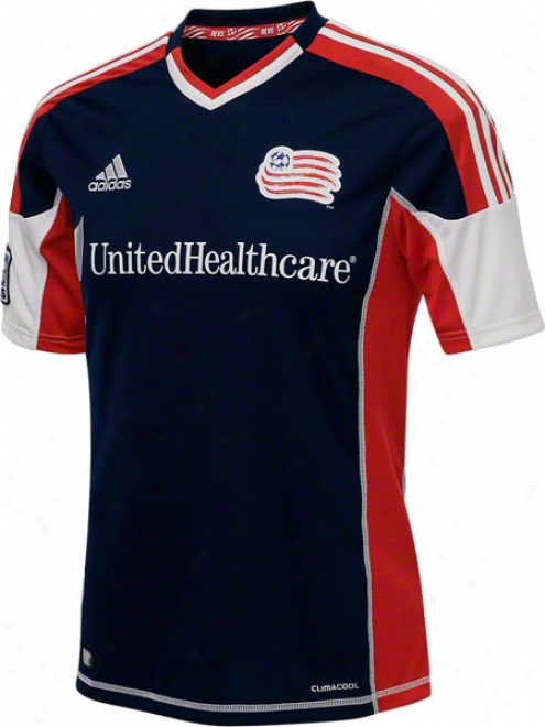 New England Revolution Blue Adidas Replica Home Jersey