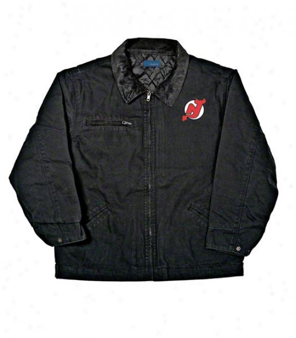 New Jersey Devils Jerkin: Black Reebok Tradean Jacket